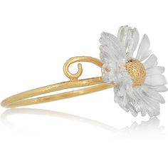 Alex Monroe 22-karat gold and silver-plated daisy ring ($66)