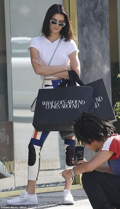 Kendall Jenner shops with Hailey Baldwin.. days.after jewellery theft #dailymail