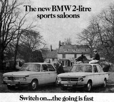 BMW 1969 70s Cars, Bmw Classic Cars, Bmw 2002, New Class, Advertising Poster, Alloy Wheel, Cars Motorcycles, Vintage Cars, Dream Cars