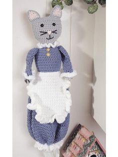 New crochet bag holder plastic patterns ideas Crochet Kitchen, Crochet Home, Love Crochet, Vintage Crochet, Crochet Crafts, Crochet Projects, Knit Crochet, Plastic Bag Holders, Crochet Flowers
