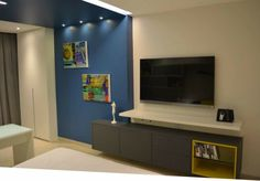 Sala de TV por FM Arquitetura #living #TVlounge #homedecor #decoração