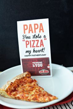 Papa You Stole a Pizza My Heart - fun Father's Day gift from thirtyhandmadedays.com