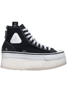 Platform High Top Sneakers (0070-150-BLACK) Stitching Leather, Black Platform, Converse Chuck Taylor, High Tops, Black Women, High Top Sneakers, Sustainability, Patterns, Shoes