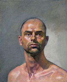 Bernardo Siciliano, Self Portrait, 2013, oil and pastel on canvas, 24 x 20 inches