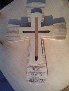 3 level wood cross.