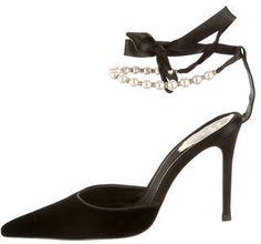 Designer Clothes, Shoes & Bags for Women Black Tie Shoes, Black Pumps, Pointed Toe Pumps, Stiletto Heels, High Heels, H&m Shoes, Cute Shoes, Rene Caovilla, Beautiful Outfits