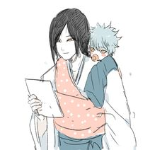 Orochimaru may be the most hated person by me but I have to admit this is stinking cute.