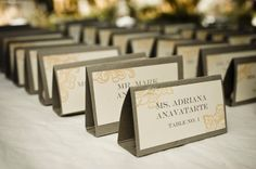 Best Place Card Ideas, Wedding Invitations Photos by Viera Photographics