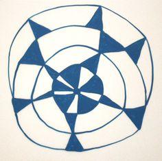 Cassie Jones | Works on Paper - Duralar 2009 II / #blue #white