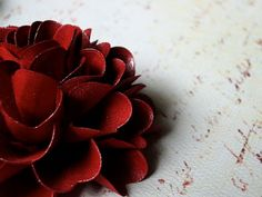 Cranberry color - Gift Wrapping - Gift Bows -  deep red - handmade paper flowers  by DragonflyExpression