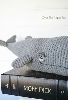 Crochet Moby, Dick whale project by Over The Apple Tree
