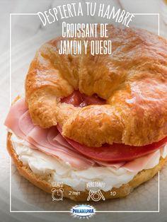 #quesophiladelphia #cuernito #croissant #jamon #desayuno
