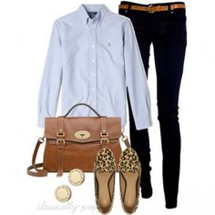 Casual Outfits with Polo Ralph Lauren Blue Oxford Custom Fit Shirt