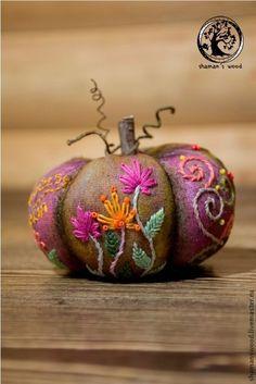 """Еда ручной работы. Ярмарка Мастеров - ручная работа. Купить Фэнтезийная тыква """"Сказочный лес"""". Handmade. Розовый, грунтованный текстиль"""