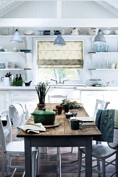Rustic Country White - Kitchen Designs - Shabby Chic & Wallpaper Ideas (EasyLiving.co.uk)