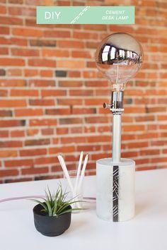 Modern Cement Desk Lamp // jojotastic.com