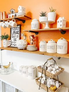 Styling Kitchen Shelves so you can get the most use of them and have them displayed beautifully.