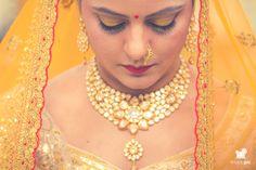 Beautiful golden bridal lehenga !!!