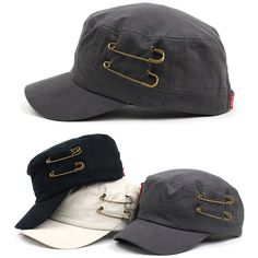 Mens Womens Classic Army Military Safety Pin Cadet Patrol Castro Adjustable Hats #hellobincomENTER #CadetPatrolCastroCapHats