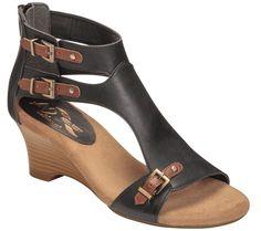 A2 by Aerosoles Heel Rest Wedge Sandals - Zenfandel