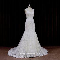 Beautiful luvudress modern royal night dress sexy stone work bridal dress
