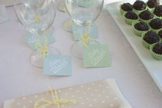 Labels - Mint party kit by Uhlala!