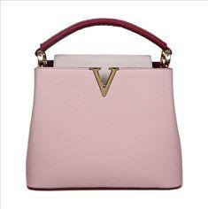 Women s Tote Bag High Quality Soft PU Leather Brand Desinger V Shape Ladies  Shoulder bag Cream Pink Color Sac Crossbody Purse 1746701de5697