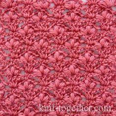 "Crochet Stitch Pattern ""Cherry Blossoms"" - detailed description and crochet…"