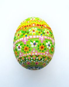 Acrylic painted Easter egg.