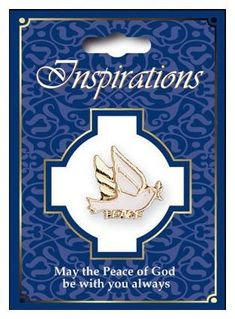 White Dove Of Peace Confirmation Brooch Pin-