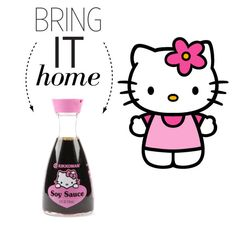 """""""Bring It Home: Hello Kitty Soy Sauce"""" by polyvore-editorial ❤ liked on Polyvore featuring interior, interiors, interior design, home, home decor, interior decorating, Hello Kitty and bringithome"""