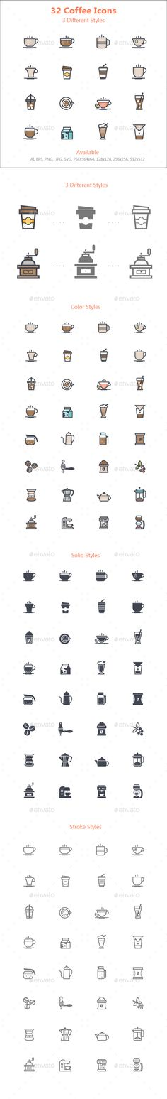 Coffee Icon  — PSD Template #barista #drink • Download ➝ https://graphicriver.net/item/coffee-icon/18133331?ref=pxcr