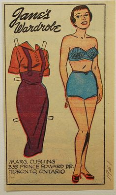 JANE's Wardrobe : Newspaper Paper Doll