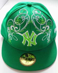 bce603b79f0 New Era 59Fifty NY New York Yankees Hat Green   White Fitted Men s Baseball  Cap