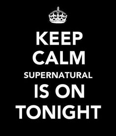 I've pinned this before. BUT, today it is SUPER appropriate (pun intended). :D :D S8 TONIGHT GUYS! #Supernatural #IAMFREAKINGOUT