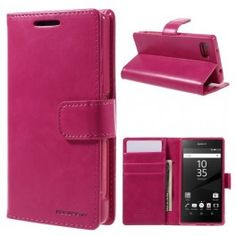 Sony Xperia Z5 Compact hot pink puhelinlompakko.