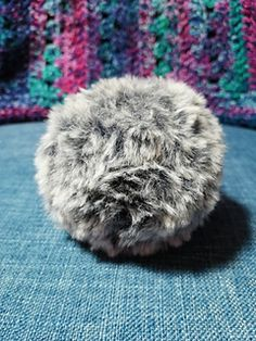 Ravelry: Faux Fur Pom Pom pattern by Debbie Black @ Monkey Wishes Crochet Beanie Hat, Beanie Hats, Hat Storage, Cool Shapes, Faux Fur Pom Pom, Ear Warmers, Headgear, Free Crochet, Ravelry