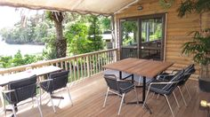 Restaurant deck seating for any meal