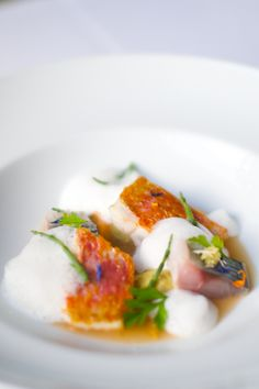 A Caldeirada/The Fish Stew, a dish by chef Alexandre Silva, from Bocca. Near Marquês de Pombal Square (Lisbon), this restaurant advocates the use of portuguese products in the confection of all the dishes in the menu, namely fish. http://bocca.pt