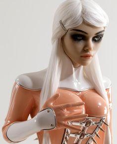Heaven Sent Angel corset latex spikes fetish art silicone sculpture