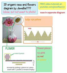 Afbeeldingsresultaat voor 3D origami pattern