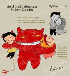 Setan dasim adalah setan yang ada di dalam rumah dan bertugas untuk mengganggu rumah tangga