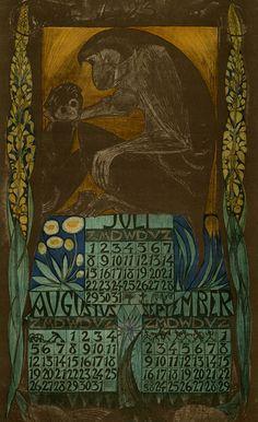 kalender voor het jaar 1923, Juli, augustus,september. Leo Visser (illustrator)