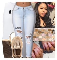 """""""ion wanna hype ya but you a lucky n*gga if my mean a*s like ya"""" by lamamig ❤ liked on Polyvore featuring Miss Selfridge, Casetify, MICHAEL Michael Kors and Puma"""