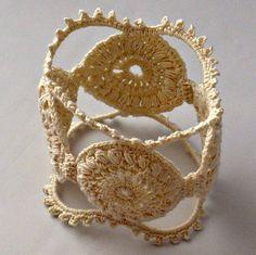 Irish Crochet Bracelet Fiber Bracelet  in von Nothingbutstring