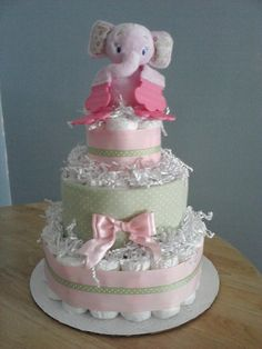 My diaper cake creation