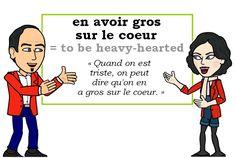 L\'expression du jour :  « en avoir gros sur le coeur » [ɑ̃ avwaʀ gʀo syʀ lə kœʀ]   #learnfrench #FLE Les Machin (@Les_Machin) | Twitter