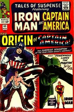 Tales of Suspense # 63 by Jack Kirby & Sol Brodsky/ Don Heck & Dick Ayers Captain America Comic, Iron Man Captain America, Captain Marvel, Capt America, Silver Age Comics, Hq Marvel, Marvel Heroes, Jack Kirby, Marvel Comic Books