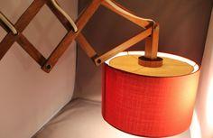 Lampe Wandlampe Wall Lamp Modernist 60er 70er Jahre Denmark Scherenlampe RED rot