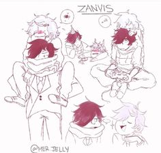 Haven't drawn alot of zanvis :~p Travis Aphmau, Aphmau And Aaron, Aphmau Characters, Aphmau Memes, Zane Chan, Aphmau Fan Art, Dream Art, Otp, Youtubers